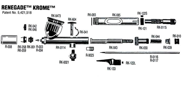 Badger Renegade Krome Parts