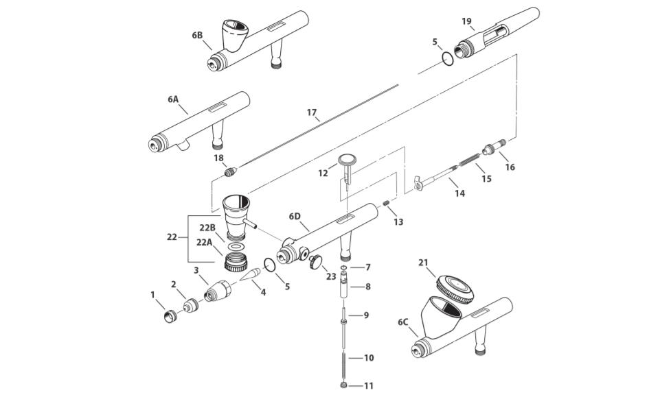 iwata eclipse parts and schematic  hp parts diagram #11